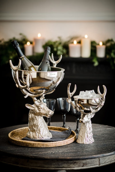 Stag Head Ice Bucket / Nibbles Bowl