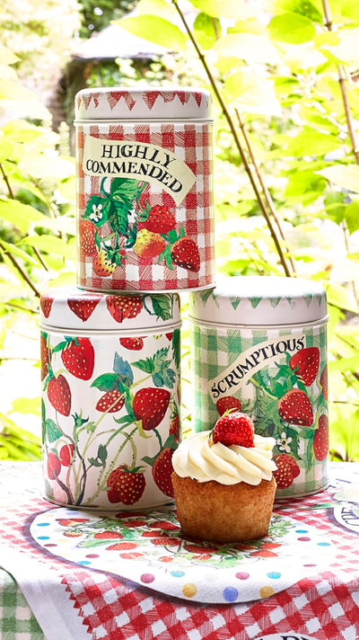 Strawberries Set of 3 Caddies