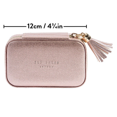 Ted Baker Metallic Pink Mini Jewellery Case