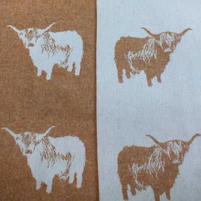 Highland Cow Merino Throw