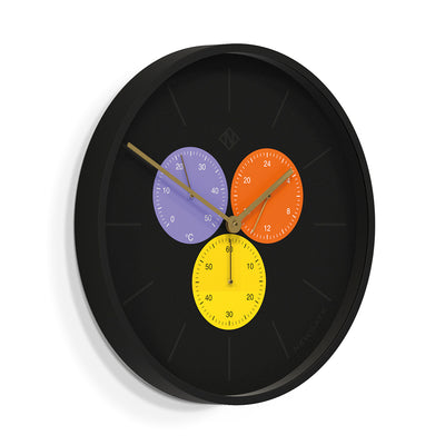 Snake Eye Triptik Wall Clock and Thermometer