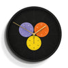 Snake Eye Triptick Wall Clock and Thermometer