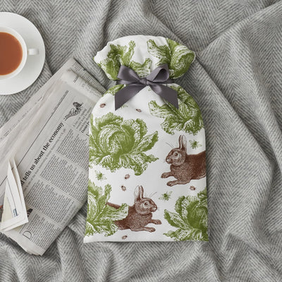Rabbit and Cabbage Hot Water Bottle