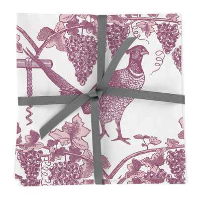 Pheasant and Vine Napkins Set of Four
