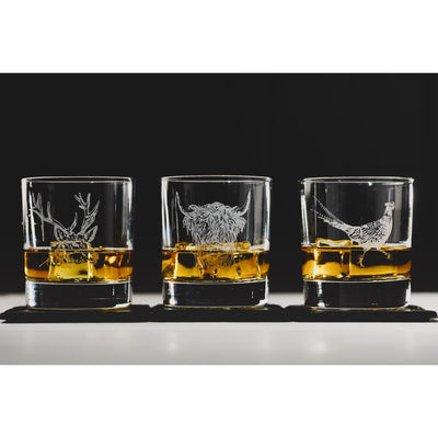Pheasant Engraved Tumbler and Slate Coaster