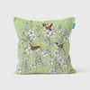 Wild Rose and Wren Cushion - annabeljames