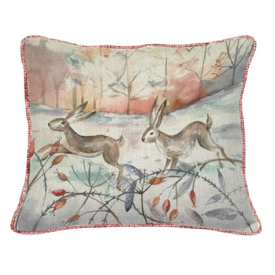 Winter Hare Cushion