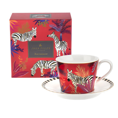 Zebra Cup and Saucer