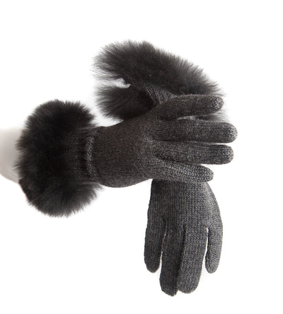 Alpaca Gloves, Charcoal - annabeljames