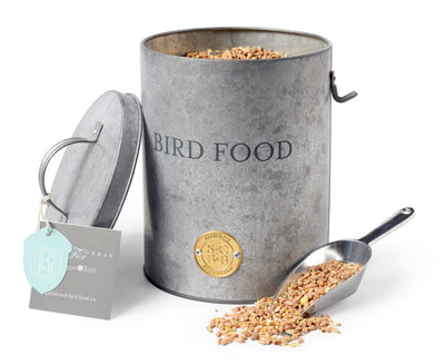 Bird Feed Tin with Scoop - annabeljames