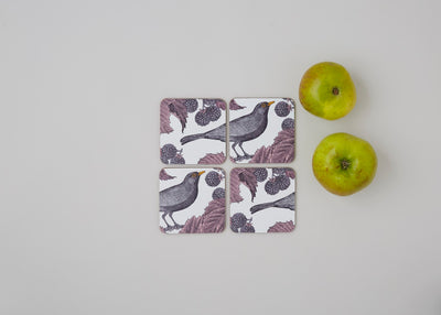 Blackbird and Bramble Coaster Set - annabeljames