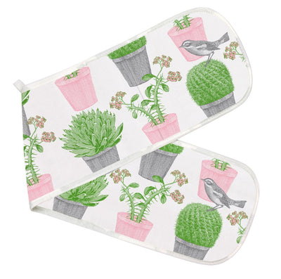 Cactus and Bird Oven Glove
