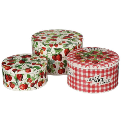 Strawberries Set of 3 Cake Tins