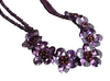 A Vintage Butler & Wilson Garnet and Lilac Crystal Flower Necklace