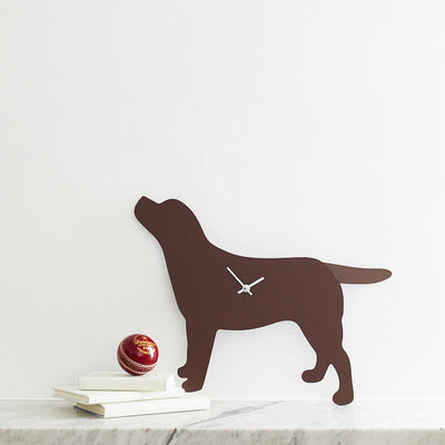 Labrador Clock - Brown - annabeljames