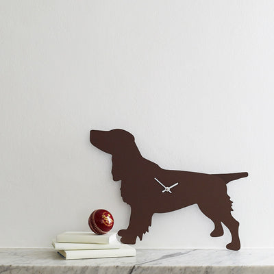 Spaniel Clock - Brown - annabeljames