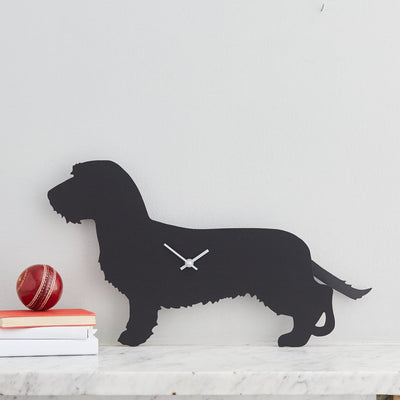 Dachshund - Wire-Haired - Clock - annabeljames