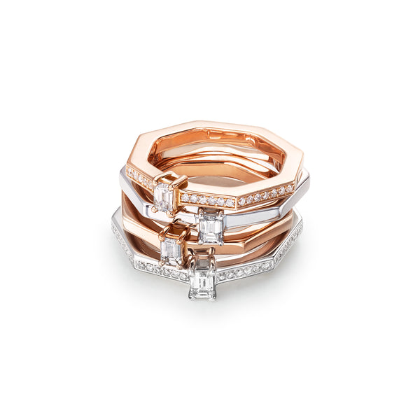 AUDACE Solitaire Diamond Rose