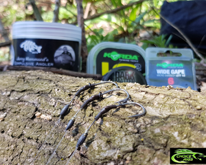 "3x ""Dark Matter Combi Rigs"" Korda Dark Matter braid, Multiple Boom options."