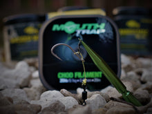"Load image into Gallery viewer, ""The Double Chod Rig"" J Precision Chod hooks with Doubled 20lb Korda Mouth Trap."