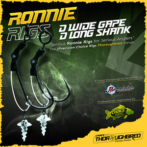 """Thoroughbred"" Ronnie D Rigs, Wide Gape and Long shank options."