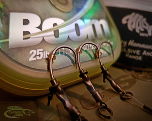 "3x Korda Krank ""Spinner Rigs"" With Korda Krimped Booms"