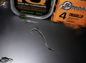 "3x J Precision ""Slip D Multi Rigs""  with Tungsten Aligners and Korda IQ2 Booms"