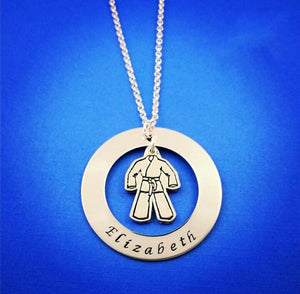 Martial Arts Personalized Necklace - My Metal Mojo
