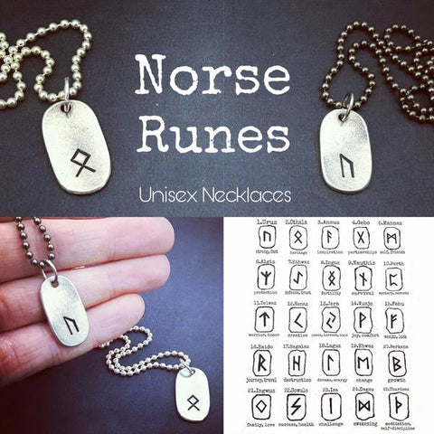 Old Norse Rune Unisex Necklace - My Metal Mojo