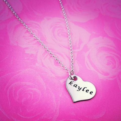 Personalized Heart Necklace - My Metal Mojo
