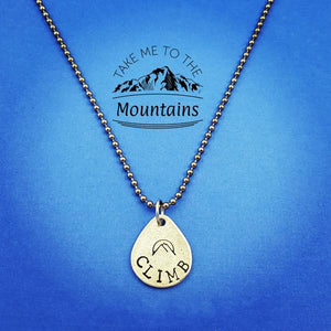 Climb Mountains Necklace - My Metal Mojo