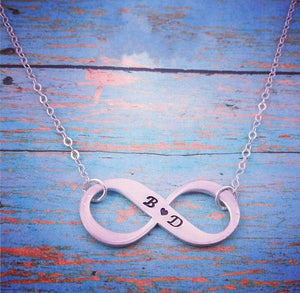 Eternity Symbol Personalized Necklace - My Metal Mojo
