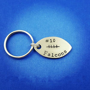 Football Personalized Keychain