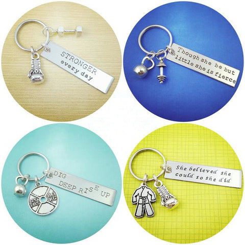 Weightlifting Motivation Keychains - My Metal Mojo