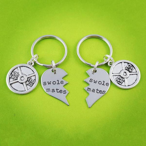 SwoleMates Keychain Set choose your weight charms - My Metal Mojo