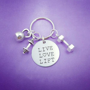 Live Love Lift Keychain - My Metal Mojo