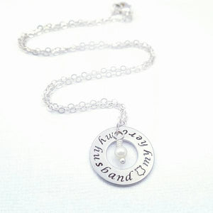 My Husband My Hero Police Military Necklace - My Metal Mojo