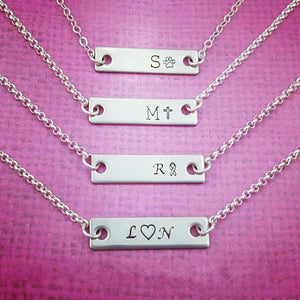 Silver Bar Personalized Necklace - My Metal Mojo