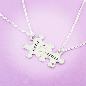 Puzzle Piece Necklaces - My Metal Mojo