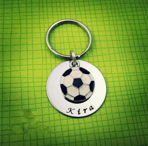 Soccer Personalized Keychain - My Metal Mojo