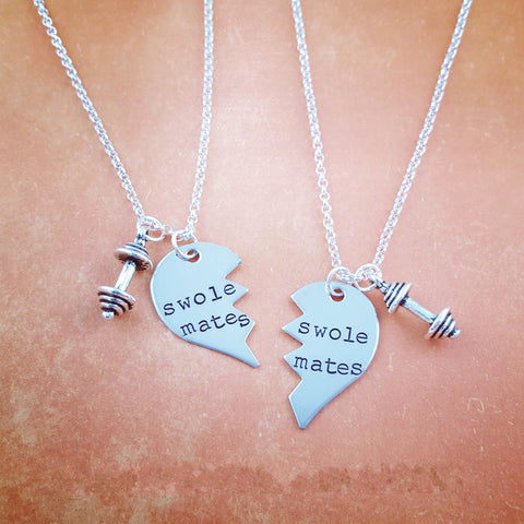 SwoleMates Necklace Set choose your weight charms - My Metal Mojo