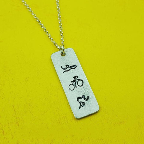 Triathlon Necklace - My Metal Mojo