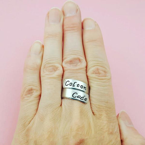 Name Personalized Ring - My Metal Mojo
