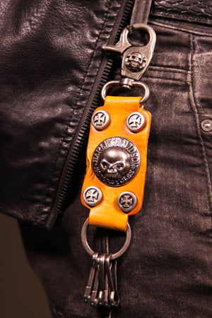 Skull Head Leather Key holder