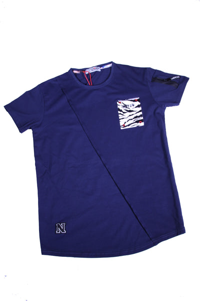 BLUE O-NECK T-SHIRT