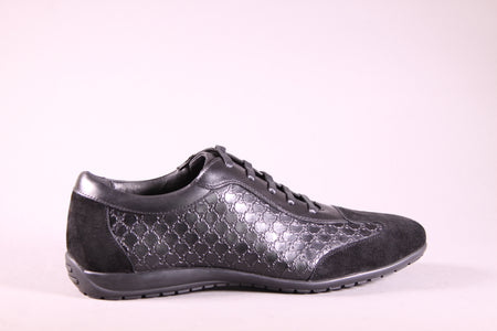 LEATHER SNEAKERS 9910_1 BLACK 1