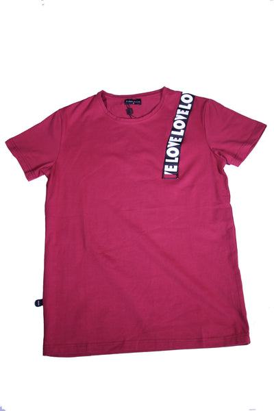 RED O-NECK T-SHIRT