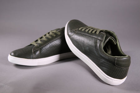 GREEN FLAT-SOLE SNEAKERS