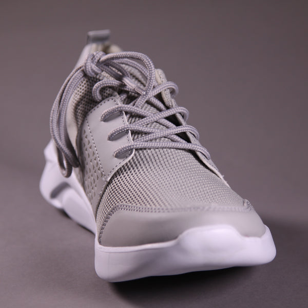 GREY PERFORATED SNEAKERS