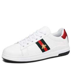 Men Bee White Sneakers